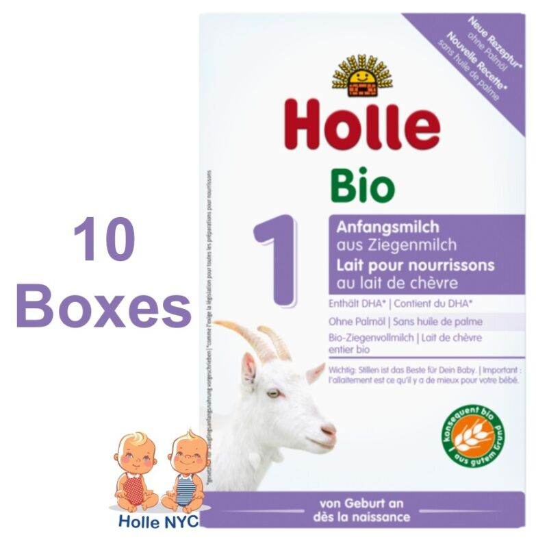 Holle Goat Milk Stage 1 Organic Formula with DHA 10 Boxes 400g Free Shipping
