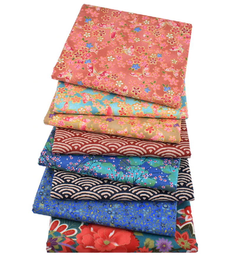 5 Pcs 8*8 Cotton Fabric by The Yard Fat Quarter Quilting Fabric Bundles Patchwork Material Fabric for Sewing DIY Making Supplies