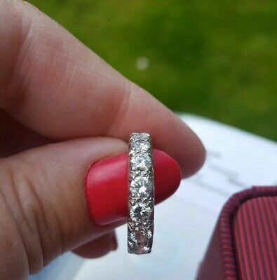 18 CARAT WHITE GOLD 1.00 CT DIAMOND ETERNITY RING SIZE O