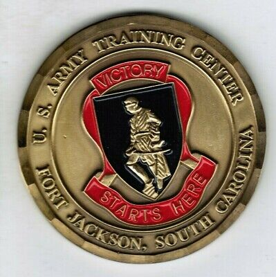 US Army Training Center Fort Jackson SC Commanding General Challenge Coin 1