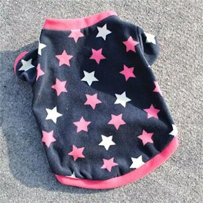 DOG JUMPER HOODY CHIHUAHUA YORKIE PUPPY TOY 17CM TEACUP TINY NAVY STARS
