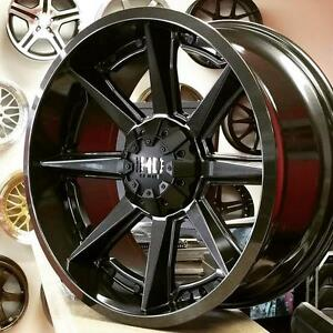 20x9 6x135 5x136 5x127 Rims for Jeep Wrangler Ford F150 Ram1500 Chevy Silverado 4 New wheels $1000 @Zracing 9056732828