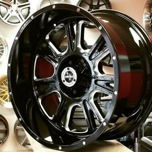 20 Inch Rims for Jeep Wrangler Ford F150 ( $1100 + Tax 4 New wheels ) 20x10 6x135 5x127 -25 @Zracing 905 673 2828