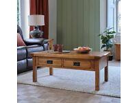 Coffee Table - Oak Coffee Table - 4 Drawer - 100% oak - Oak Furniture Land