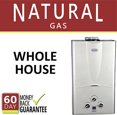 Tankless Hot Water Heater 4.3 GPM Marey Natural Gas On Demand 4 Bath Whole House