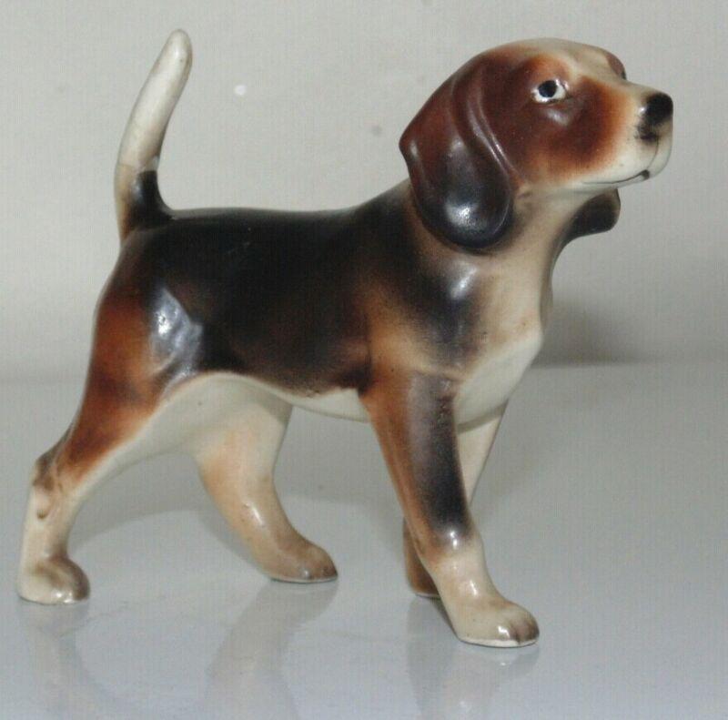 Vintage Beagle Dog Figurine Japan