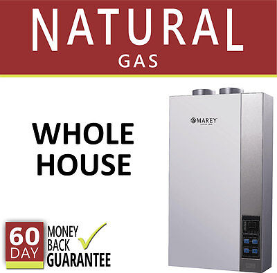 Tankless Hot Water Heater 5.4 GPM Marey Natural Gas On Demand Direct Vent