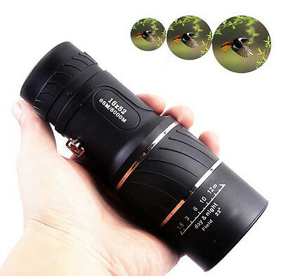 16X52 Dual Focus Monocular Telescope Zoom Binoculars Hiking Light Telescopes New