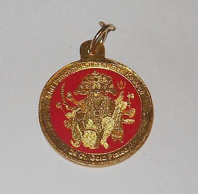 Heavy Panchamuki Hanuman Blessed Amulet from Balaji Temple Mehandipur