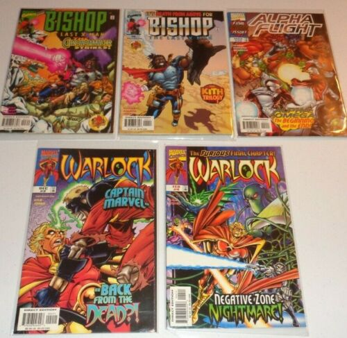 Alpha Flight 20 (last issue), Bishop 3 and 4, Warlock 2 and 4