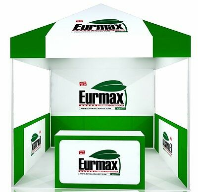 10x10 Custom Logo Printed Ez Pop Up Canopy Commercial Fair Trade Show Booth Tent