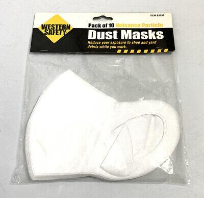 Western Safety Packung 10 Holz Laden Staub & Beeinträchtigung Partikel Maske 95%