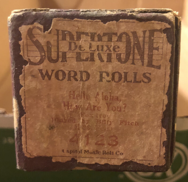 Supertone Deluxe Word Rolls Hello Aloha, How Are You? #4123 Fox Trot