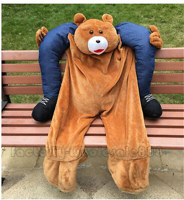 Halloween Teddy Bear Mascot Fancy Costume Carry Ride On Dress Suit Adult Cosplay