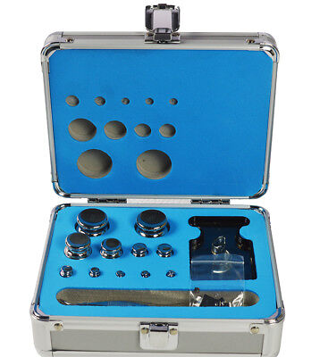 F1 Grade 1mg-200g Stainless Steel Scale Calibration Weight Kit Set W Certificate