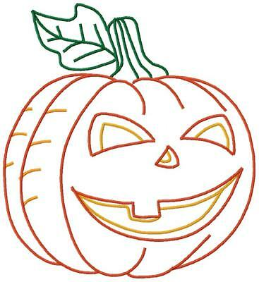 Halloween Pumpkins 10 Machine Embroidery Designs CD 9 sizes in Satin & Outline - Halloween Pumpkin Outline