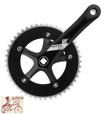 Crankset Origin8 Compact Road 172x50//34 SQ Silver//Black 110BCD With the Left Arm