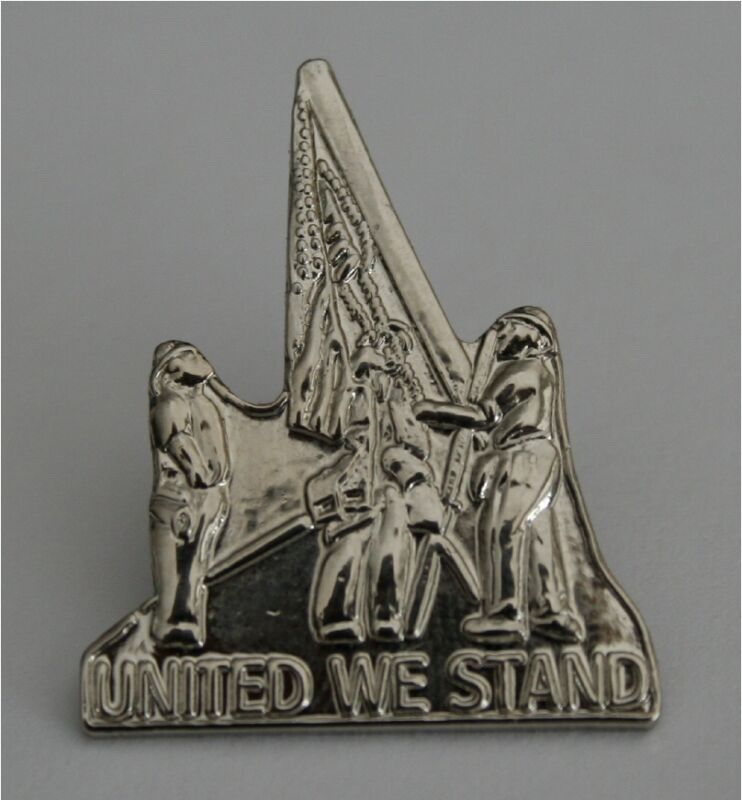 9/11/01 WORLD TRADE CENTER WTC 20TH ANNIVERSARY UNITED WE STAND HAT / LAPEL PIN