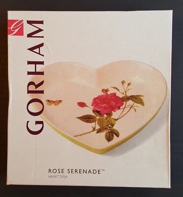 Heart Shaped Dish Rose Serenade by GORHAM-New in box