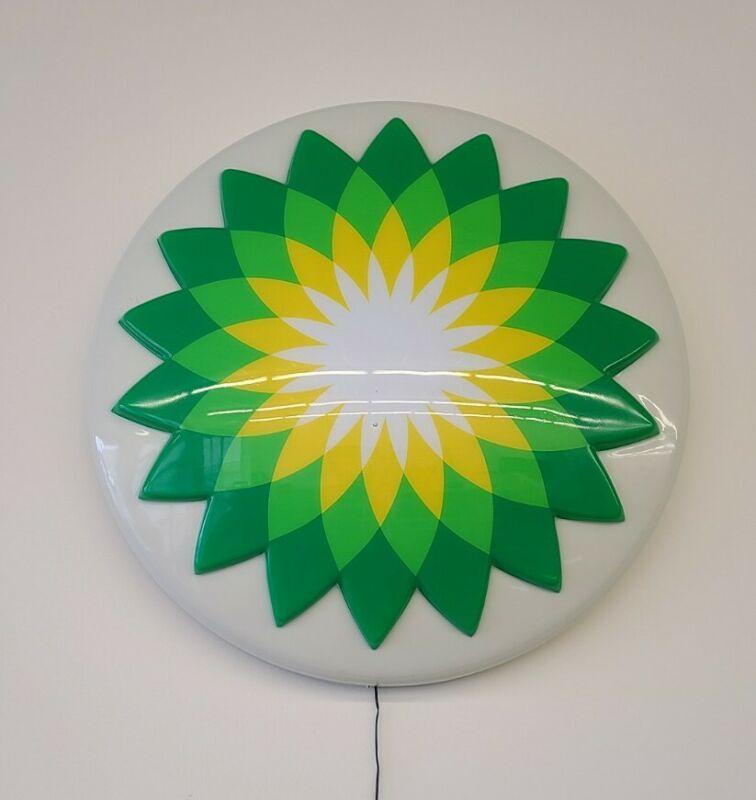 BRITISH PETROLEUM BP SERVICE GAS STATION SIGN RETRO LIGHTED LED