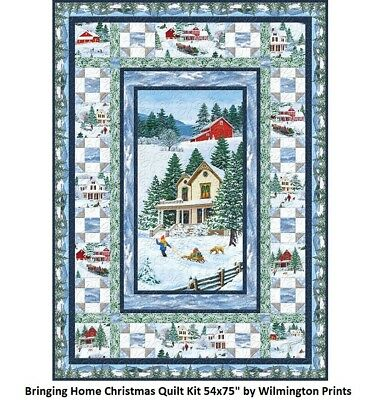 "Bringing Home Christmas Holiday Quilt Kit 54x75"" by Wilmington"