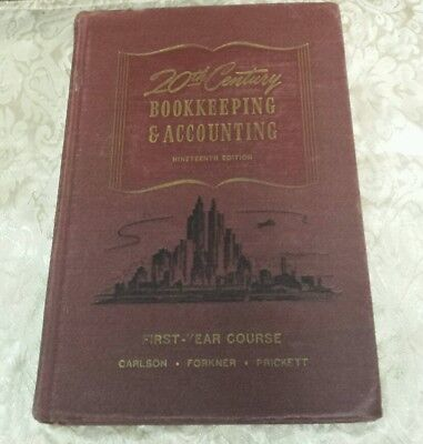 Vtg Textbook 1947 20th Century Bookkeeping and Accounting 9th Ed. (VTG Finance)