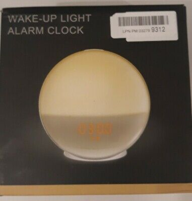 Wake Up Light Alarm Clock Lamp Radio Sunrise Fading Sunset Open Box