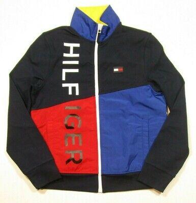 Tommy Hilfiger Men's Navy Blaze Colorblock Flagship Full Zip Jacket