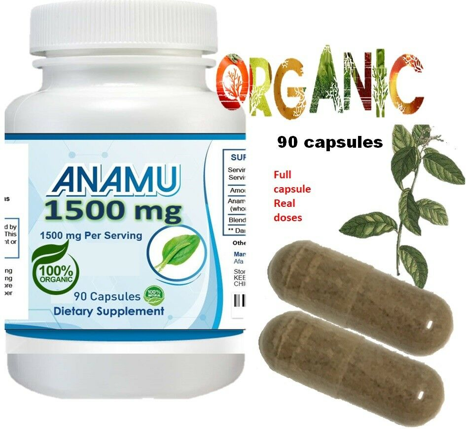 Anamu 100% Organic Petiveria Immune Support detoxification 270 capsule 1500mg 3 1