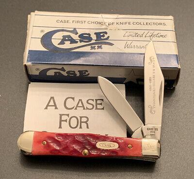 CASE XX 1989 CENTENNIAL R6225 1/2 RED BONE HANDLE SMALL COKE BOTTLE POCKET KNIFE