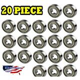 608-ZZ Ball Bearing Dual Sided Metal Shielded Deep Groove (20PCS)