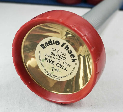 "RADIO SHACK  Flashlight LARGE  5 D CELL  TANDY CORP.  16"" LONG  CAT. NO. 68-1022"