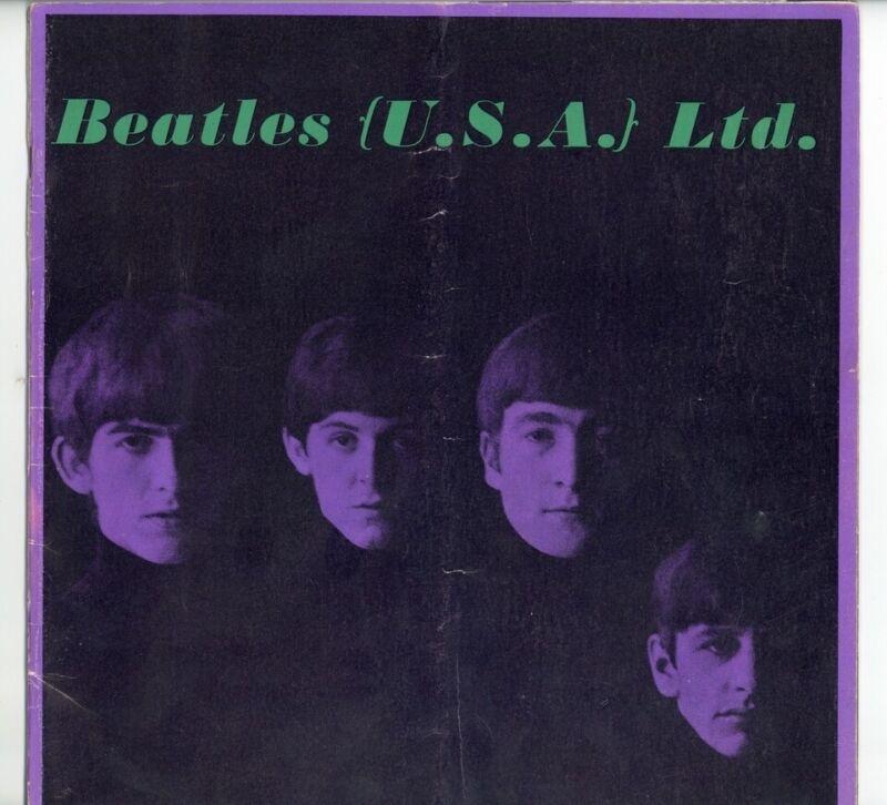 Beatles 1964 Original US Tour Program Concert Vintage John Paul Ringo UK XL31