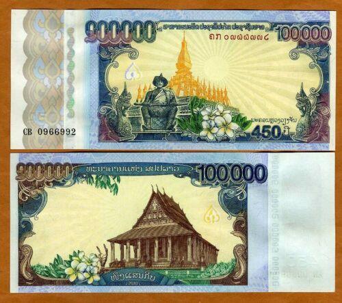 Lao / Laos, 100000 (100,000) Kip, 2010, P-40, UNC > Commemorative