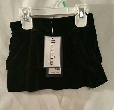 - Girls Black Velvet Skort 18 month shorts Childrens New Kids Clothes Dressy NWT