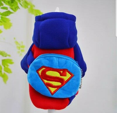UK Pet Dog Cat Superman Superhero Christmas Halloween Party Fancy Dress Costume (Pet Halloween Costumes Uk)