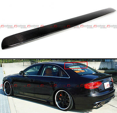 FOR 2009-2016 AUDI A4 S4 B8 QUATTRO CARBON FIBER REAR ROOF WINDOW SPOILER WING