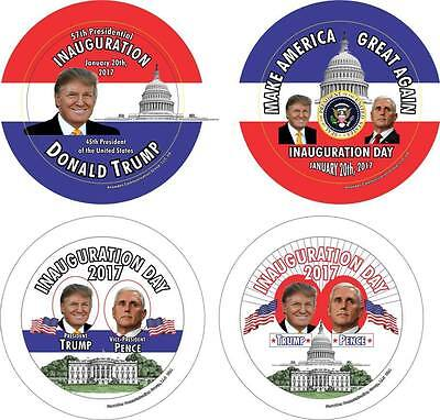 Donald J  Trump   Mike Pence Inauguration 3 1 2 In  Buttons