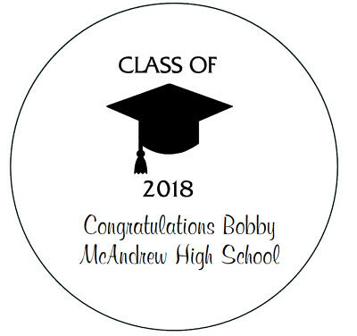 24 Personalized Class of 2019 Graduation Stickers Party Favors](Class Party)
