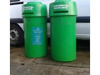 2 X THICK PLASTIC BINS MANY USES £20 EACH.