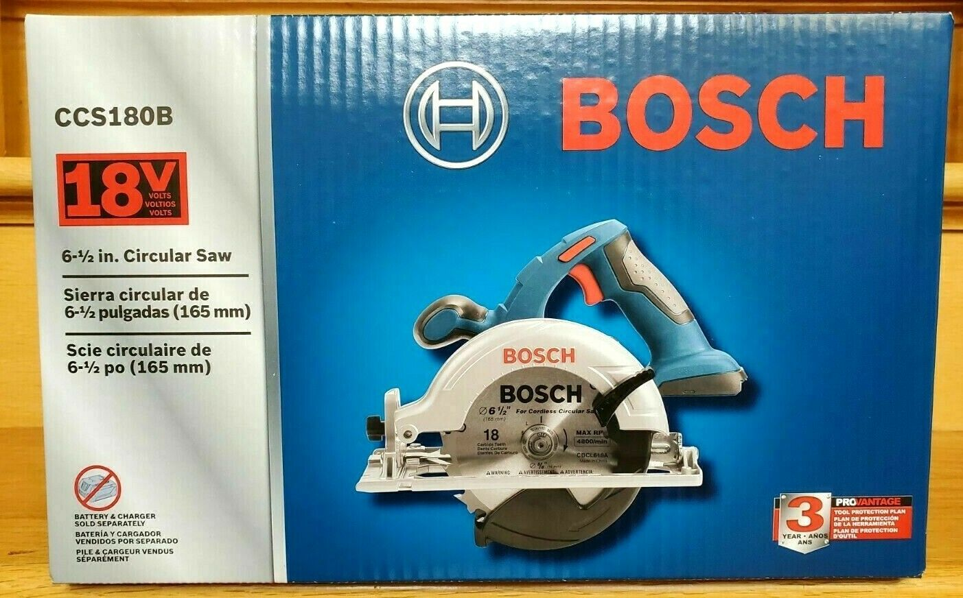 New BOSCH CCS180B 18V Cordless Lithium-Ion 6-1/2 in. Circula