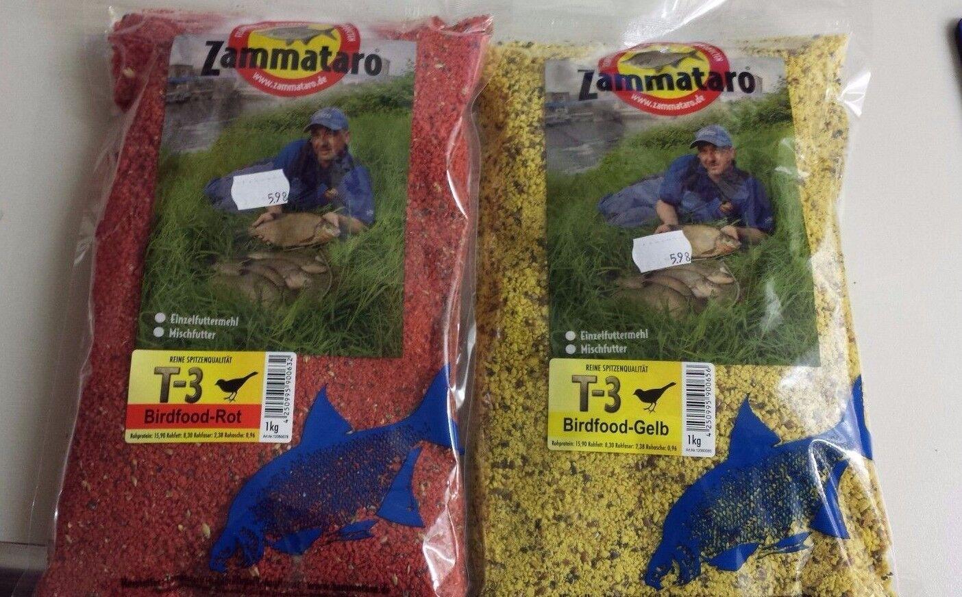 Zammataro Birdfood T-3, Gelb, Grün und Rot, 1 kg Beutel, Grundpreis 0,598€/100g