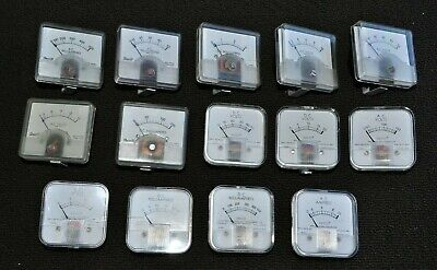 Lot 14 Vtg Panel Mount Ac Dc Volt Mv Amp Ma Meters Emico Surite Whardware