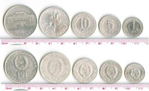 L3030, Korea 5 Pcs Coins, 1959-1992, Alu, Without Stars