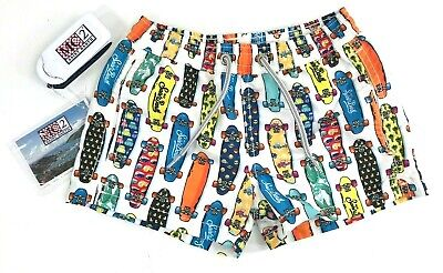 MC2 SAINT BARTH boys skateboard swim shorts trunks, size 4 bathing suit VW skate