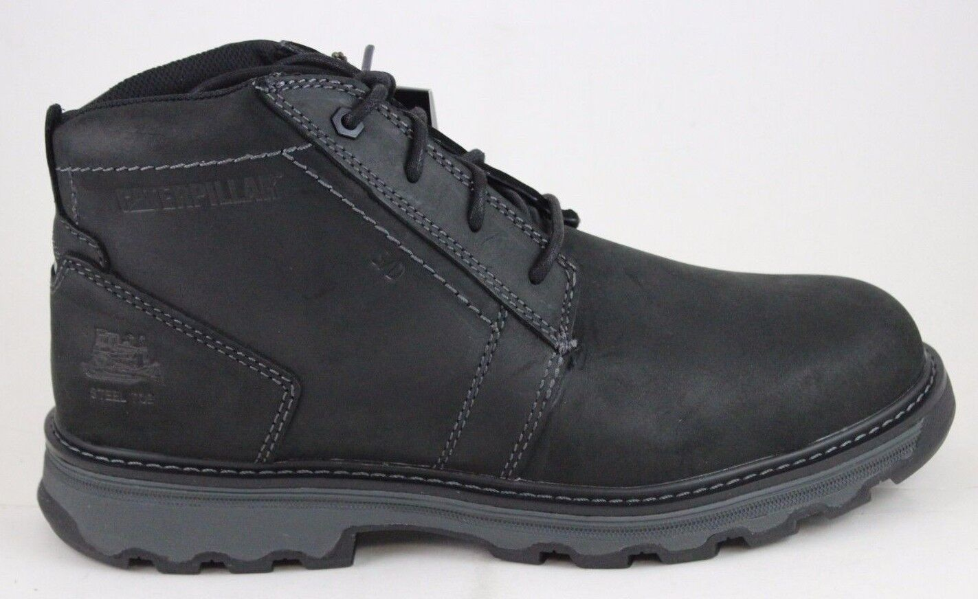 bf9f175df35 Men's CAT Caterpillar Parker Black Leather Steel Toe Work Boot P90714 Brand  New