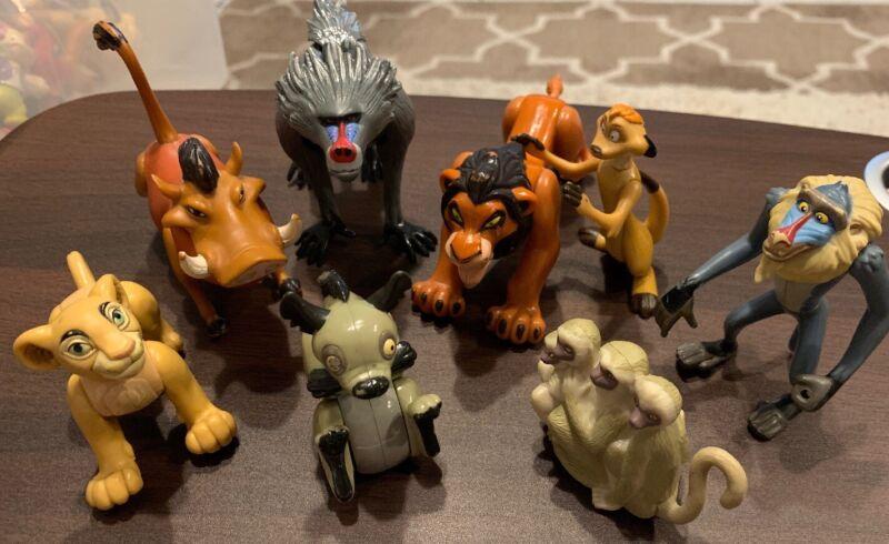 Lot of 8 Disney Lion King Plastic Toy Figure Figurines USED