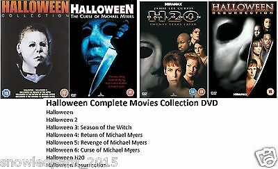 HALLOWEEN COMPLETE DVD COLLECTION Part 1 2 3 4 5 6 7 8 UK ALL 8 FILMS MOVIES NEW (Halloween 6 Film Complet)