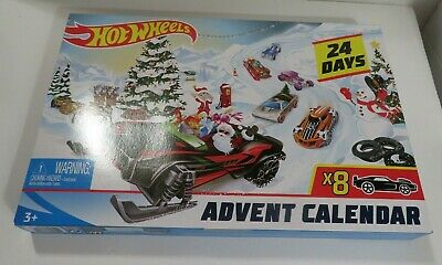 New Hot Wheels 2019 Advent Count Down Calendar 8 Cars Christmas Not Dated