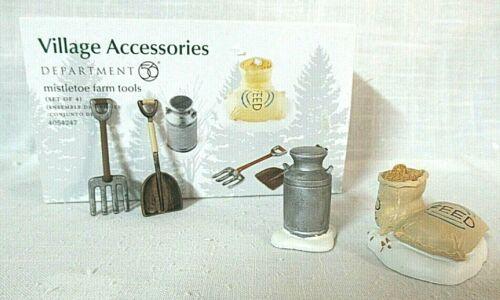 Department 56 Accessory Set of 4  Mistletoe Farm Tools  # 4054247